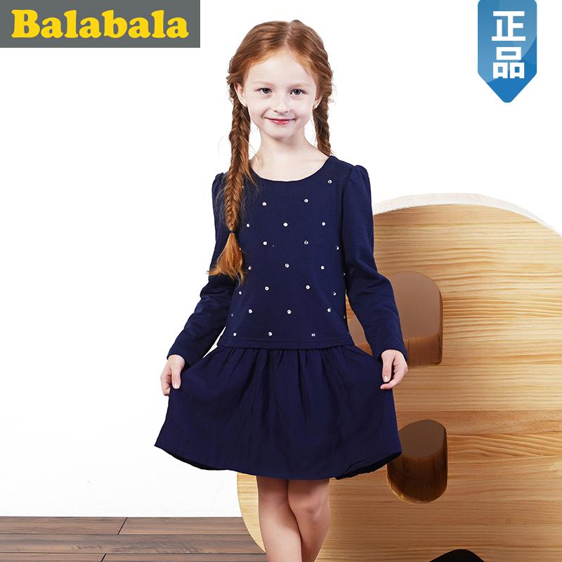 巴拉巴拉balabala童装女童连衣裙中大童裙子2015儿童秋装新款